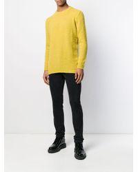 メンズ Avant Toi ロングスリーブ プルオーバー Yellow