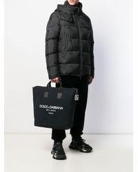 メンズ Dolce & Gabbana ロゴ ハンドバッグ Black