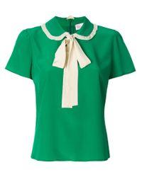 Camicia con fiocco di RED Valentino in Green