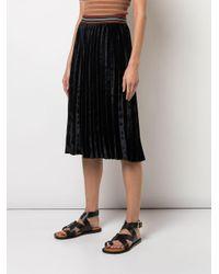 Jupe plissée en velours M Missoni en coloris Black