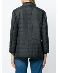 Ermanno Scervino Black Button Padded Jacket