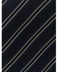 メンズ Tom Ford ストライプ シルクネクタイ Blue