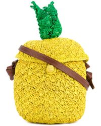 Sensi Studio Yellow Pineapple Woven Bag