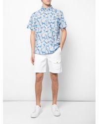 Shorts con cintura con cordón Michael Bastian de hombre de color White