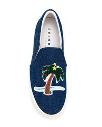 Joshua Sanders Blue 'holiday' Sneakers