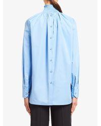 Prada スタンドカラーシャツ Blue