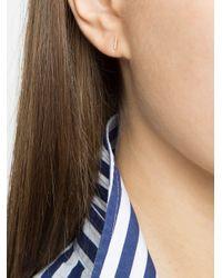 EF Collection Metallic Diamond Bar Stud Earrings
