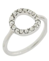 Isabel Marant - Metallic Circle Crystal Ring - Lyst