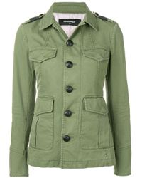 DSquared² Military Buttoned Jacket Green