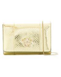 Versace Metallic 3d Medusa Clutch Bag