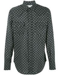Saint Laurent - Black Star Print Western Shirt for Men - Lyst