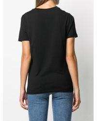 Camiseta con logo bordado Sandro de color Black