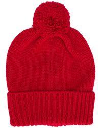 Woolrich ポンポン ニット帽 Red