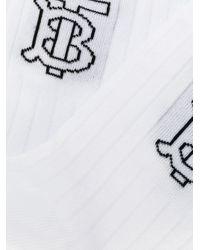 Burberry モノグラム 靴下 White