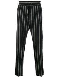 メンズ Vivienne Westwood ストライプパンツ Black