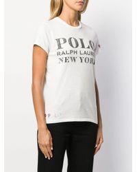Polo Ralph Lauren White T-Shirt mit Logo