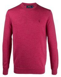 メンズ Polo Ralph Lauren ロゴ スウェットシャツ Pink