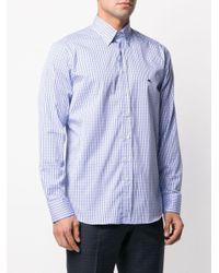 メンズ Etro チェック ボタンダウンシャツ Blue