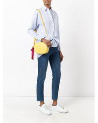 Sac porté épaule Sandy Sara Battaglia en coloris Yellow