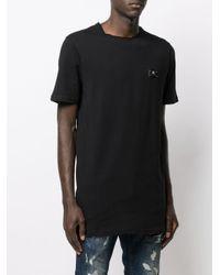 メンズ Philipp Plein ロングライン Tシャツ Black