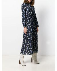 KENZO フローラル シャツドレス Blue