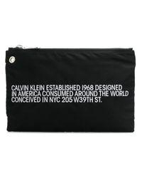 Clutch Brand Est. di CALVIN KLEIN 205W39NYC in Black