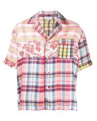 Pierre Louis Mascia Pink Multi-print Shortsleeved Shirt
