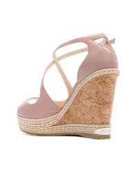 Sandales compensées Dakota 120 Jimmy Choo en coloris Pink
