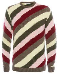 Pull en maille épaisse à rayures J.W. Anderson pour homme en coloris Red