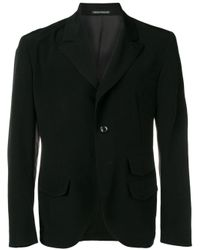 Yohji Yamamoto Black Crepe Blazer for men