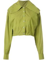 Giacca modello crop di Romeo Gigli Pre-Owned in Green