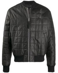 メンズ Bottega Veneta キルティング ボンバージャケット Black