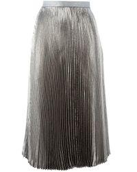 Christopher Kane ラメプリーツスカート Metallic