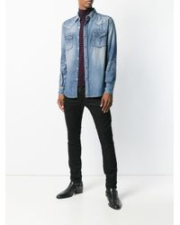 Saint Laurent Klassisches Jeanshemd in Blue für Herren