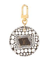 Louis Vuitton X Yayoi Kusama プレオウンド 'pumpkin Dots' キーリング White