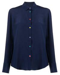 Camisa con botones PS by Paul Smith de color Blue