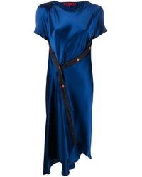 Sies Marjan オフセンターボタン ドレス Blue