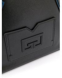 メンズ Givenchy エンボス レザーバックパック Black