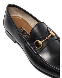 Лоферы '1953 Horsebit' Gucci для него, цвет: Black