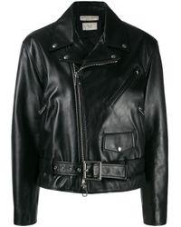 Chaqueta biker Bottega Veneta de color Black