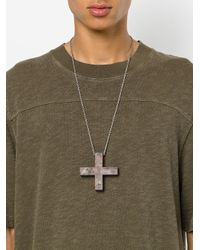 Parts Of 4 - Brown Plus Sign Necklace - Lyst