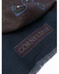 メンズ Corneliani フレイド スカーフ Blue