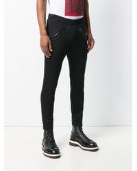 Pantalones joggers con bordado de rosa DSquared² de hombre de color Black