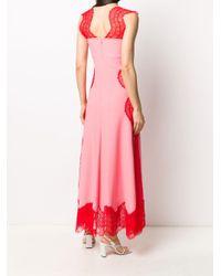 Двухцветное Длинное Платье Givenchy, цвет: Pink