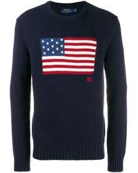メンズ Polo Ralph Lauren フラッグ セーター Blue