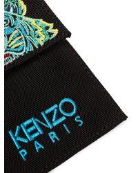 Porte-cartes à logo brodé KENZO pour homme en coloris Black