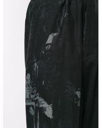 メンズ Yohji Yamamoto ペイントエフェクト パンツ Black
