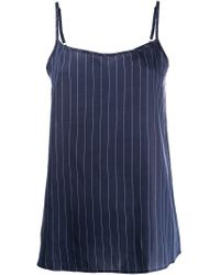 Sunspel Blue Cami Tank Top