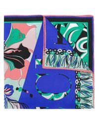 Шейный Платок С Принтом Логотипа Emilio Pucci, цвет: Blue