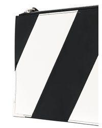 Maison Margiela Black Diagonal Stripe Clutch